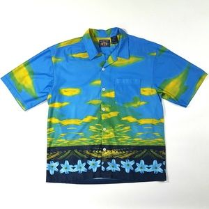 VTG OTB Men's Wild Button-Front Shirt Size:L
